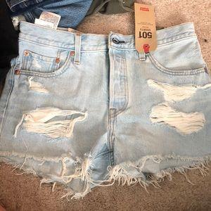 Levi's 501 mid rise shorts